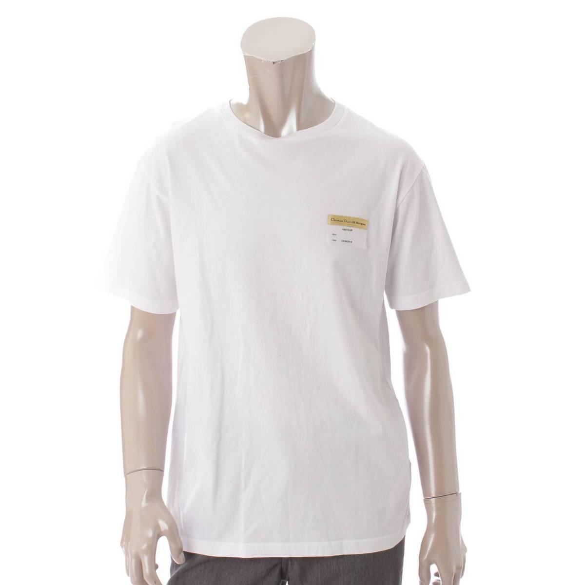 【クリスチャン ディオール】Christian Dior 19SS メンズ ビジターパッチ クルーネック Tシャツ ホワイト XS 【中古】【鑑定済・正規品保証】88774