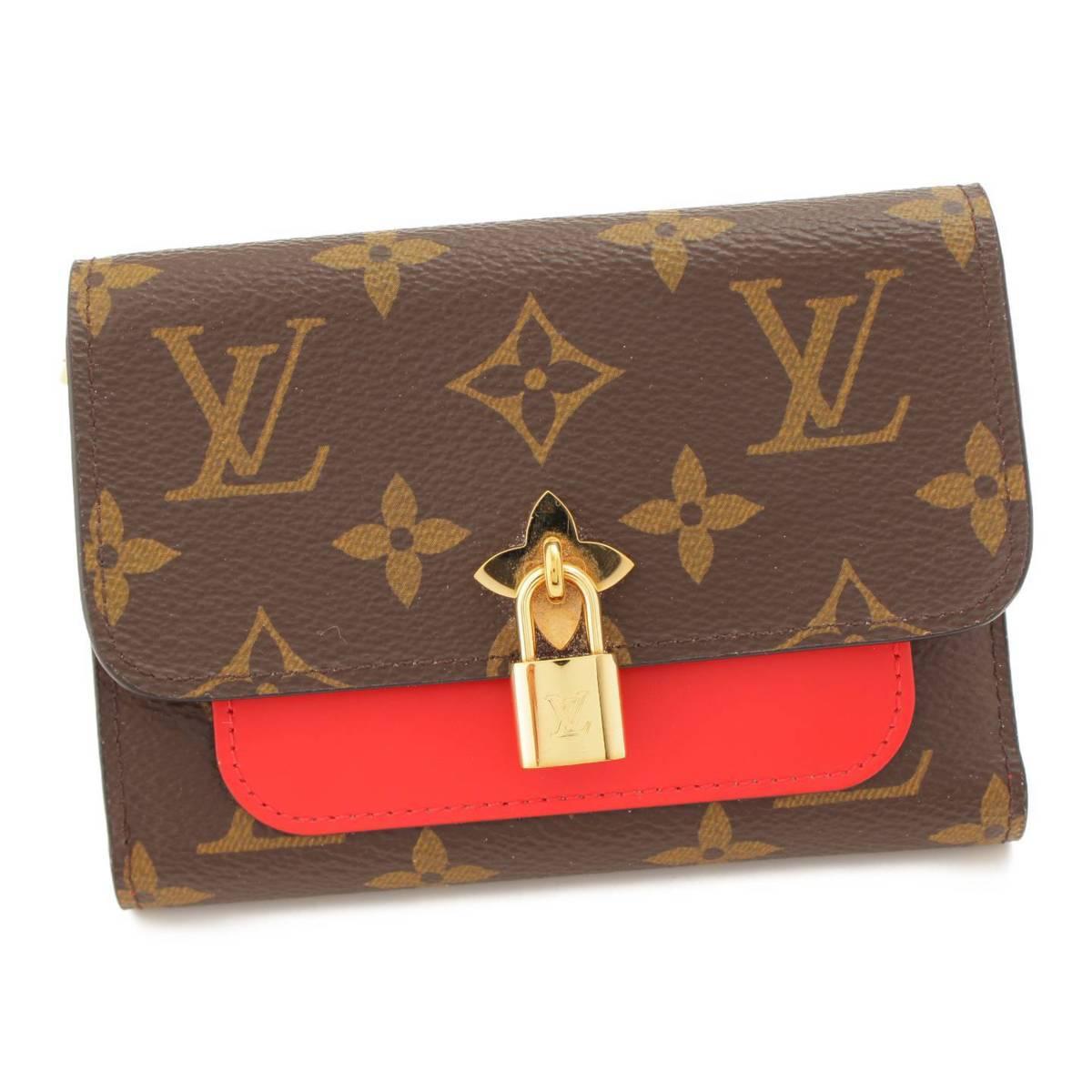 【ルイヴィトン】Louis Vuitton モノグラム ポルトフォイユ・フラワーコンパクト 3つ折り財布 M62567 【中古】【鑑定済・正規品保証】89877