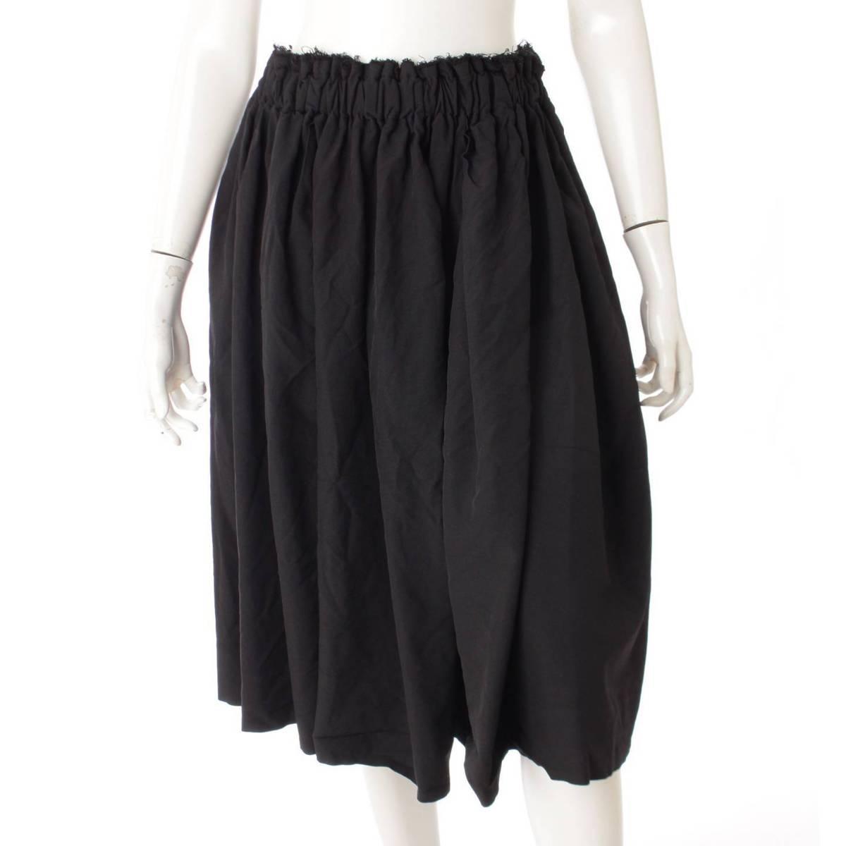 【コム デ ギャルソン】Comme des Garcons 19SS カットオフスカート GC-S026 ブラック XS 【中古】【鑑定済・正規品保証】91483