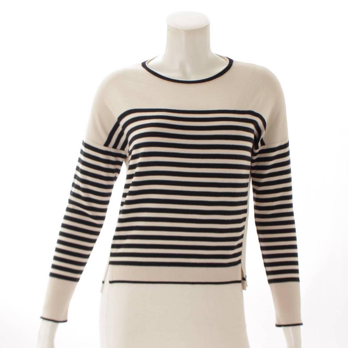 【フォクシー】Foxey Sweater Parisien Cecile ボーダー 長袖 トップス 35619 38 【中古】【鑑定済・正規品保証】90075