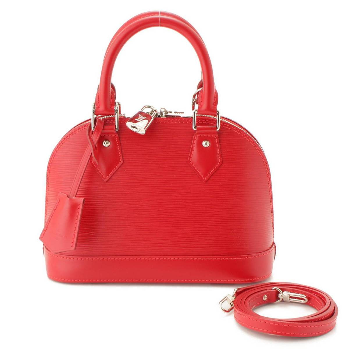 【ルイヴィトン】Louis Vuitton エピ アルマBB 2WAYバッグ M40850 カーマイン レッド 【中古】【鑑定済・正規品保証】90827