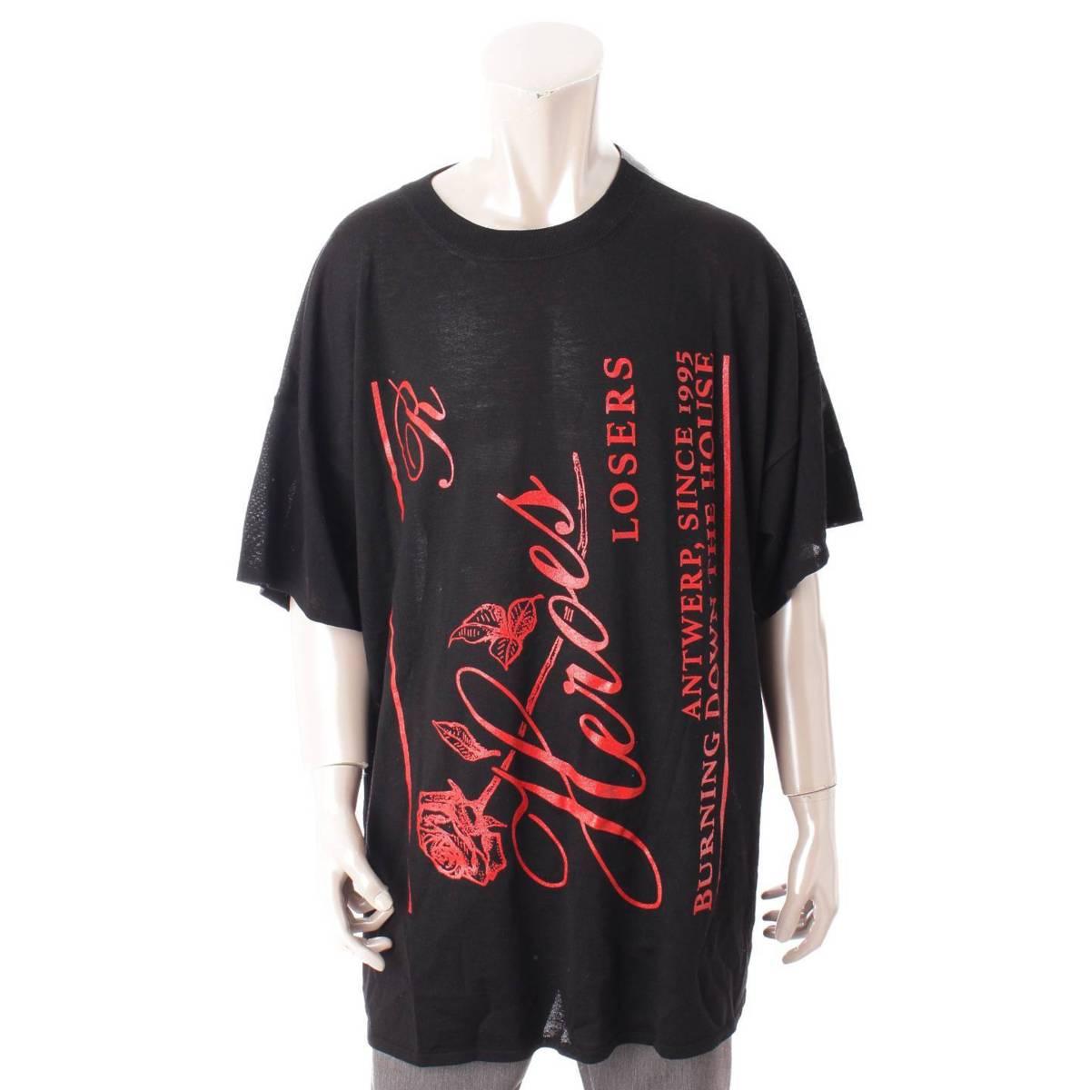 スーパーセール対象商品 ラフ シモンズ Rough Simmons メンズ Templa オーバーサイズ ニット 未使用 鑑定済 ブラック 中古 激安超特価 93478 正規品保証 Tシャツ 希望者のみラッピング無料 S