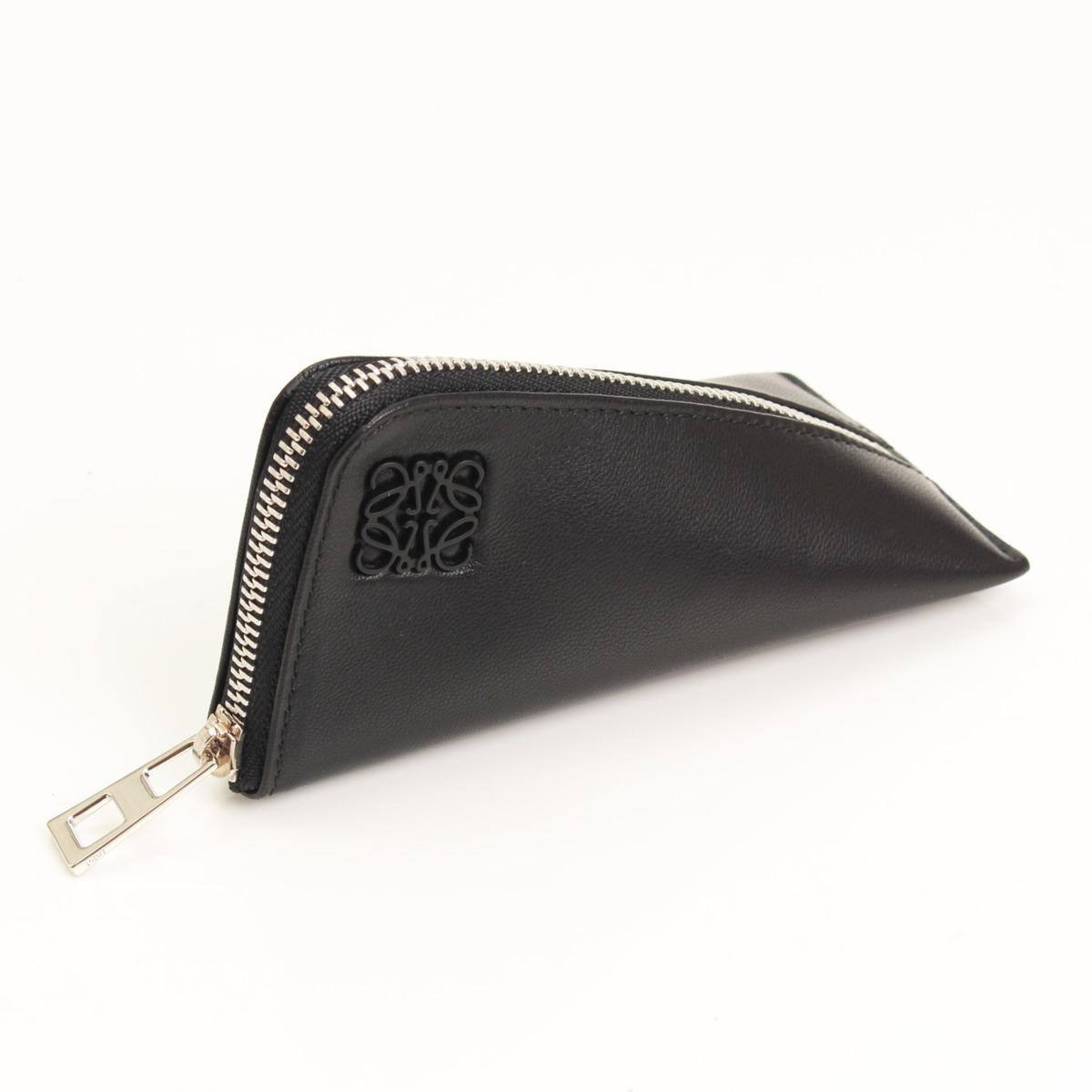 【ロエベ】Loewe ナッパレザー Z Purse コインケース ブラック 【中古】【鑑定済・正規品保証】【送料無料】17273