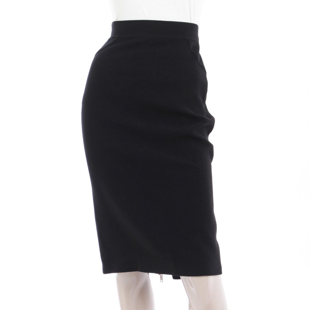 【ジバンシー】GIVENCHY 14AW ウールスカート ブラック 34 未使用【中古】【鑑定済・正規品保証】【送料無料】18190