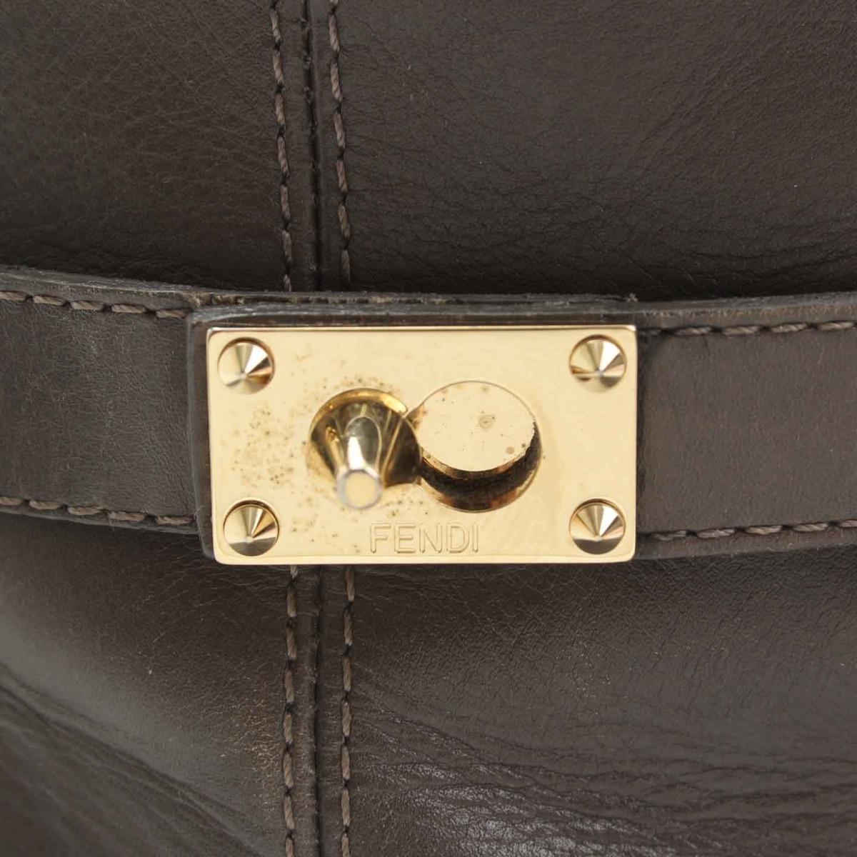 フェンディ Fendi レザー ショートブーツ グレーレディース 37鑑定済・正規品保証 21091QrdthsC