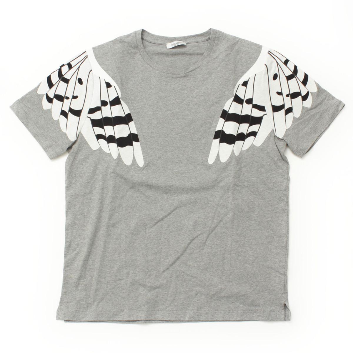 【ヴァレンティノ】Valentino メンズ オウル サーモテーピング Tシャツ グレー M 【中古】【鑑定済・正規品保証】【送料無料】24278