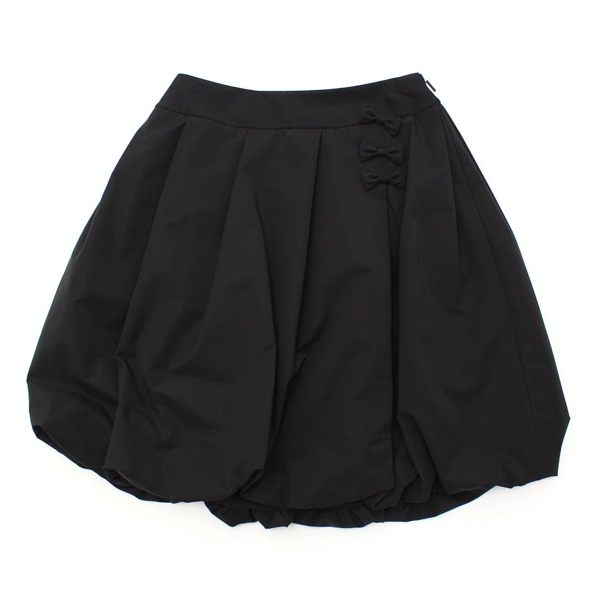 【ルネ】Rene リボン バルーンスカート 6314330 ブラック 36 【中古】【鑑定済・正規品保証】【送料無料】25079
