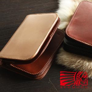 REDMOON レッドムーン ミドルサイズ 二つ折り財布 S-HD01[メンズ 男物 本革 サドルレザー 日本製 職人 匠 財布 革財布 ウォレット ショートウォレット おしゃれ かっこいい 大人 彼氏 男性 プレゼント]