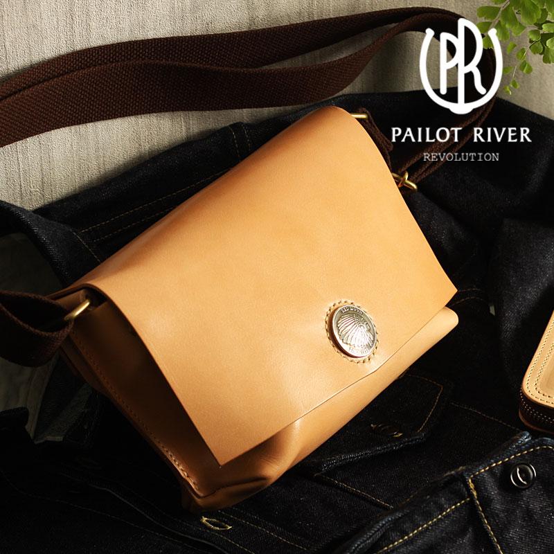 PAILOT RIVER パイロットリバー ショルダーバッグ 30コンチョ Sサイズ PR-BG[メンズ バッグ 鞄 レザー おしゃれ かっこいい 大人 彼氏 男性 プレゼント]