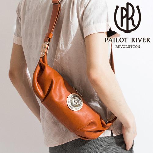 PAILOT RIVER パイロットリバー ミニクロワ ショルダーバッグ 洋白PR-MCB-BG[メンズ バッグ 鞄 レザー おしゃれ かっこいい 大人 彼氏 男性 プレゼント]