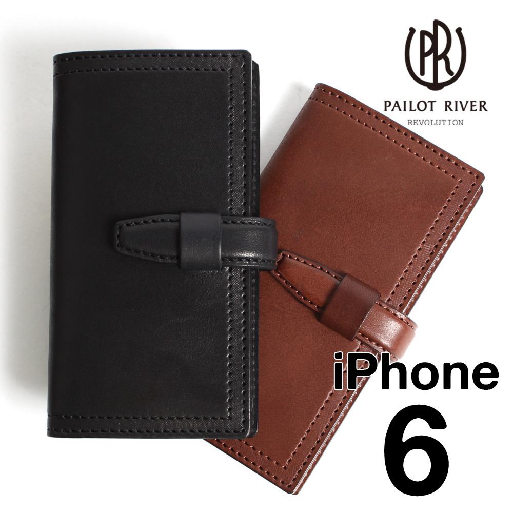 PAILOT RIVER パイロットリバー スマホケース 革 レザー iPHONEカバー6用 PR-IPC6S[メンズ 男物 本革 サドルレザー 日本製 職人 匠 手作り おしゃれ かっこいい 大人 彼氏 男性 プレゼント]