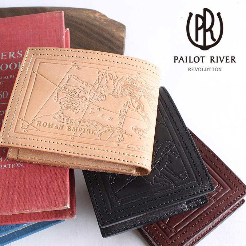 982f67bdd8ad PAILOTRIVERパイロットリバー二つ折りウォレット(ローマ)PR-PS01Eメンズ二つ折り財布