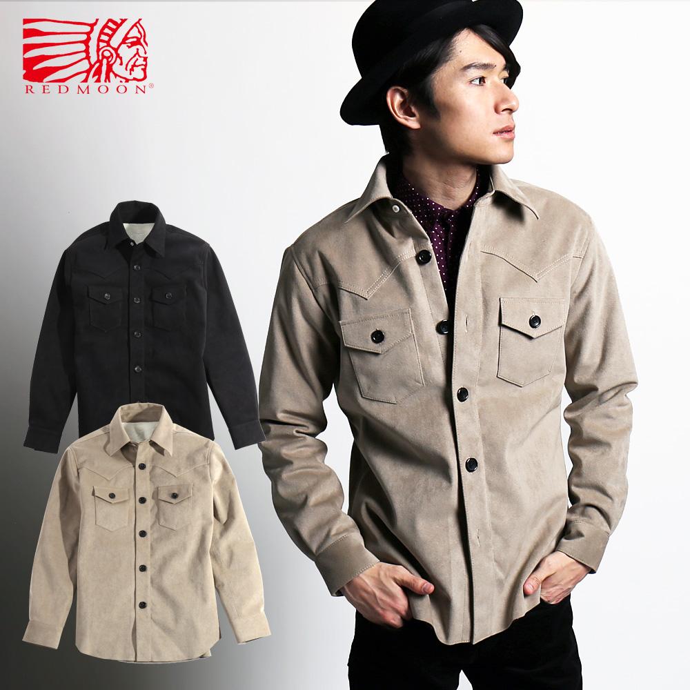 REDMOON red moon fake suede boa Jacket RM-GWS [men shirt long sleeves long  sleeves shirt casual shirt men shirt fashion cool gentleman winter clothes