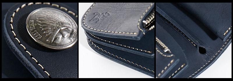 REDMOON レッドムーン MID Line 二つ折り財布 別注 HR 01A MID ネイビー メンズ 男物 本革 サドルレザー 日本製 職人 匠 財布 革財布 ウォレット ショートウォレット おしゃれ かっこいい 大人 彼氏 男性 プレゼントjL5R4A3