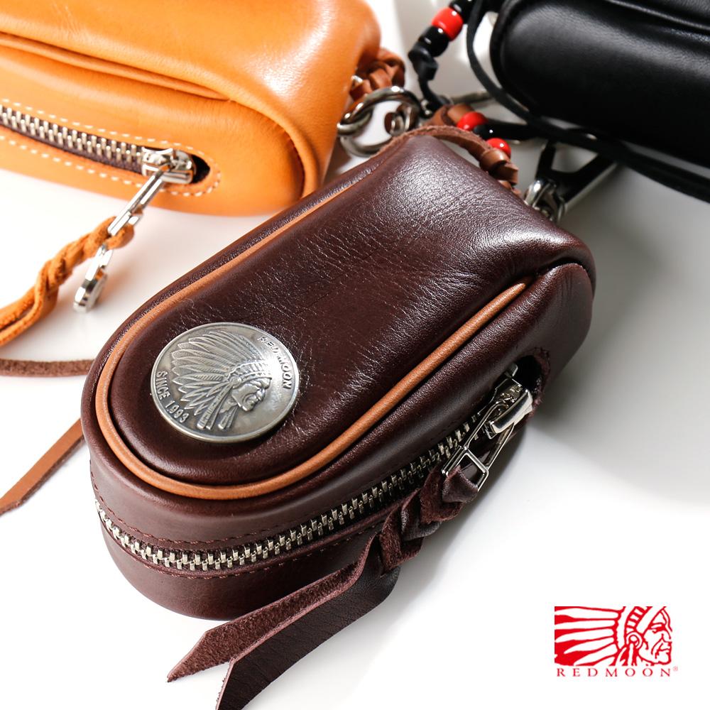 REDMOON レッドムーン Large Size GloveLeather Key Bag ラージサイズ グローブレザー キーバッグ RM-KBLA[メンズ 男物 本革 レザー キーケース 日本製 職人 匠 おしゃれ かっこいい 大人 彼氏 男性 プレゼント 30mmコンチョ スマートキー リモートキー 大容量 大きい]