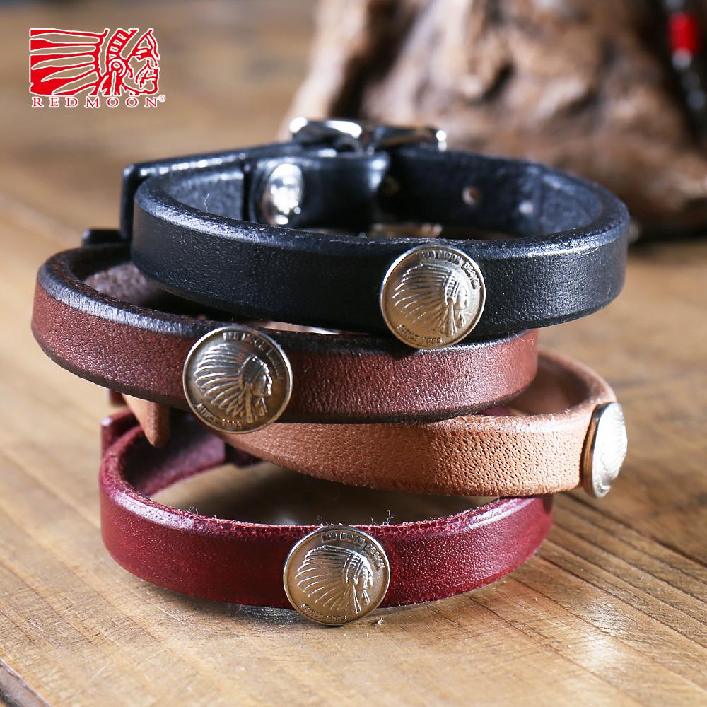 Redmoon Red Moon Leather Bangle Rm Wba Men S Things Genuine Saddle Bracelet Native American Indian 日本製職人匠手作 り Man