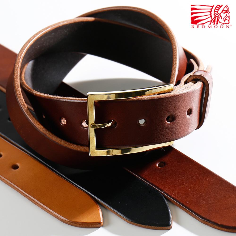 REDMOON レッドムーン Hand made Craft Original buckle Leather beltハンドメイド オリジナルバックル レザーベルト VB-5S[メンズ 男物 本革 サドルレザー 日本製 職人 匠 おしゃれ かっこいい 大人 彼氏 男性 プレゼント]