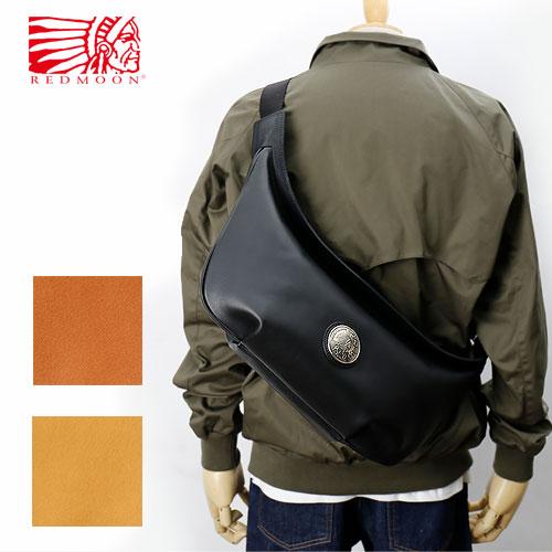 REDMOON レッドムーン ショルダーバッグ/ラージサイズ・グランドマスターコンチョ LONGSHIP-LGM[メンズ 本革 サドルレザー グローブレザー 日本製 職人 匠 鞄 カバン 革鞄 革カバン バッグ A4サイズ ユニセックス メンズバッグ おしゃれ かっこいい 大人 シンプル]
