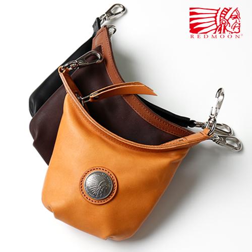 REDMOON レッドムーン ロングシップ ミニバッグLONGSHIP mini bag プレート LS-MBA Black(Glove Leather)[メンズ 男物 本革 グローブレザー 日本製 職人 匠 革カバン コンパクト ユニセックス メンズバッグ コンチョ おしゃれ かっこいい 大人 彼氏 男性 シンプル]