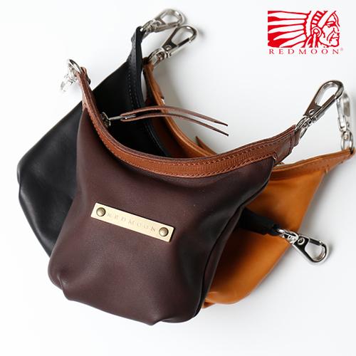 REDMOON レッドムーン ロングシップ ミニバッグ LONGSHIP mini bag コンチョ LS-MBB Black(Glove Leather) [メンズ 男物 本革 グローブレザー 日本製 職人 匠 カバン コンパクト ユニセックス メンズバッグ ロゴプレート おしゃれ かっこいい 大人 彼氏 男性 シンプル]