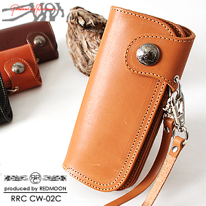 RRC produced by REDMOON, Redman, 'CW-02C' leather wallet saddle color leather wallet