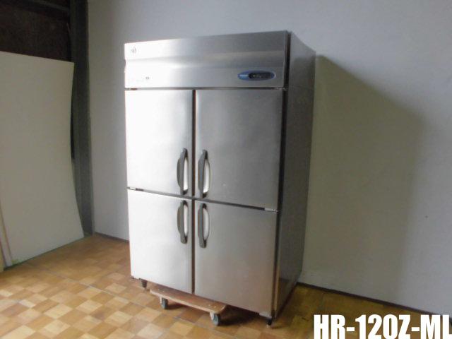 【中古】厨房 業務用 ホシザキ 縦型4面冷蔵庫 ワイドスルー インバーター HR-120Z-ML 2012年製W1200×D800×H1890mm