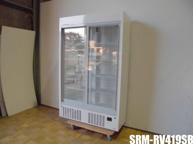 【中古】厨房 パナソニック 業務用 冷蔵ショーケース リーチイン SRM-RV419SB スライド扉 スリム壁面タイプ ビン冷やし 100V 596L 2018年製