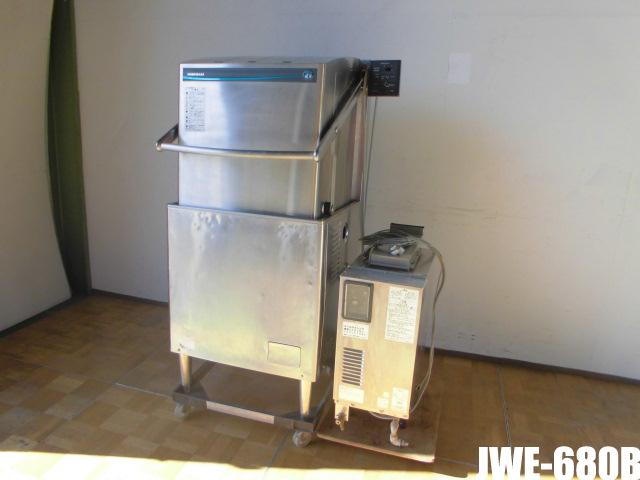 【中古】厨房 ホシザキ 業務用 食器洗浄機 食洗機 JWE-680B ドアタイプ ブースタータイプ 三相200V 60Hz専用 ガスブースター付き