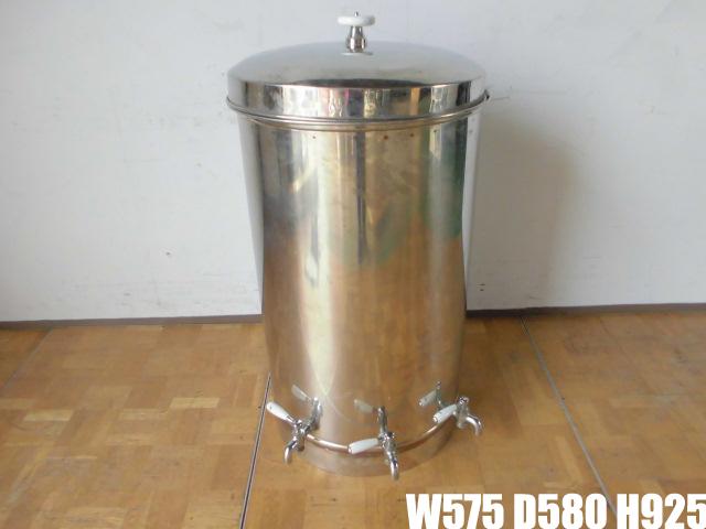【中古】厨房 貯蔵タンク 蛇口3本付き 醸造 貯水 貯湯 W575×D580×H925mm