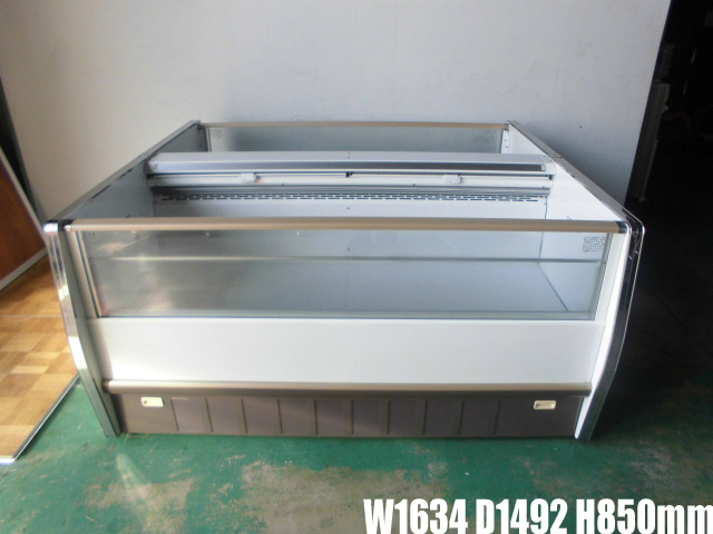 【中古】厨房 業務用サンデン 大型冷凍ショーケース SWAL-068GZW1634×D1492×H850mm 553L 2013年製 100V