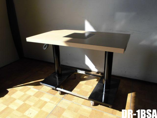 【中古】厨房 中部コーポレーション 業務用 IHドロップ インユニット テーブル DR-1BSA 単相200V IHコンロ付きテーブル 1口 電磁調理器 2本脚 A
