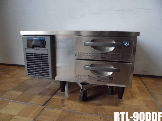 【中古】厨房 ホシザキ 業務用 ドロワーテーブル 冷蔵庫 RTL-90DDF 100V 45L 空冷式 W900×D750×H550mm