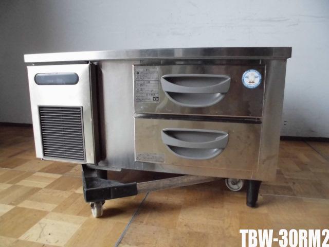 【中古】厨房 フクシマ 業務用 2段 ドロワーテーブル 冷蔵庫 TBW-30RM2 100V 75LW900×D750×H550mm