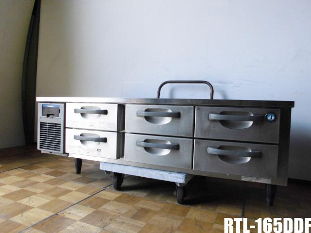【中古】厨房 ホシザキ 業務用 ドロワー テーブル 冷蔵庫 2段3列 RTL-165DDF 100V 135L 空冷式 引き出し6個 W1650×D750×H570mm