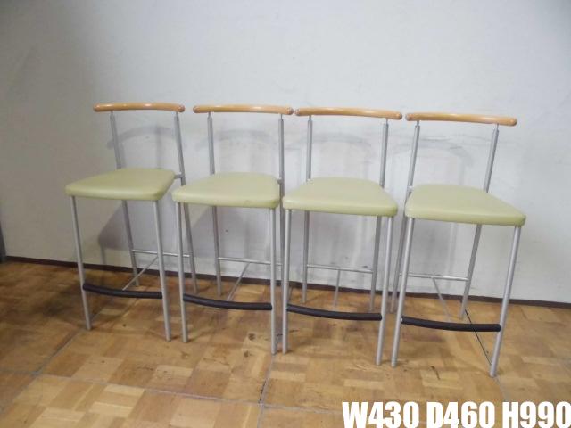 【中古】厨房 オリバー oliver カウンター椅子 チェア 4脚セット 店舗 飲食店 W430×D460×H990mm