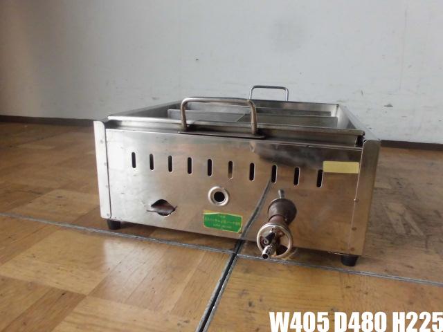 【中古】厨房 業務用 直火式 ステンレス おでん鍋 6ツ仕切り 都市ガス W405×D480×H225mm