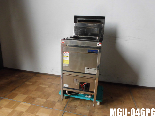 【中古】厨房 業務用 マルゼン スパゲティ釜 ゆで麺機 MGU-046PG 都市ガス 圧電式 スパゲッティ パスタ W450×D600×H800(BG1080)mm