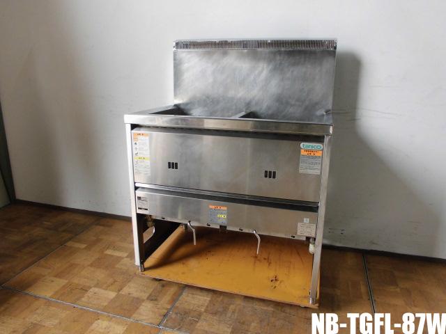 中古 厨房 タニコー 無料 業務用 2槽 ガスフライヤー NB-TGFL-87W mm W870×W600×H800 2020A/W新作送料無料 BG1140 18L×2 都市ガス