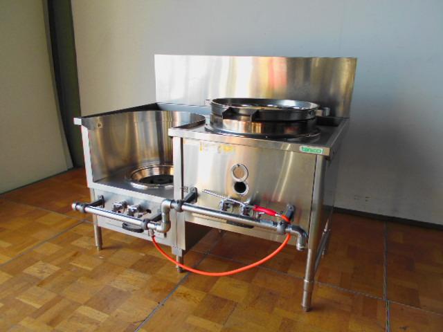 【中古】厨房 タニコー 業務用 中華レンジ CR型 CR-120 麺・スープタイプ プロパンガス