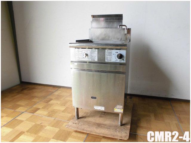 中古 厨房 おしゃれ コメットカトウ 4テボ 標準丸テボ ゆで麺機 CMR2-4 送料無料 一部地域を除く W500 2011年製 1090 D600 mm H780 LPガス
