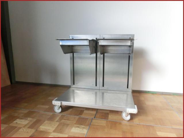【中古】厨房 フジマック ステンレス 2連式 食器トレイディスペンサー FTMC8WB