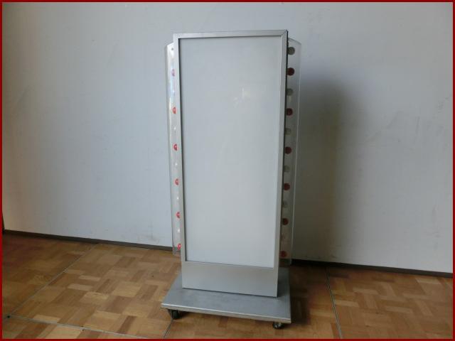 【中古】厨房 自立 両面 看板 アクリル看板 紅白電球24個 W710 D500 H1520