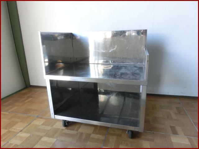 【中古】厨房 ガス台 調理台 作業台 W940×D800×H600(BG1000)mm キャスター付
