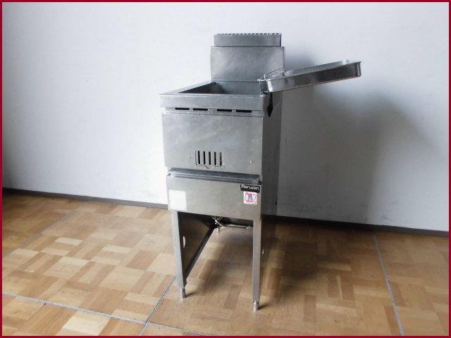 【中古】厨房 マルゼン ガスフライヤー MGF-13J 都市ガス W330 D600 油量13L