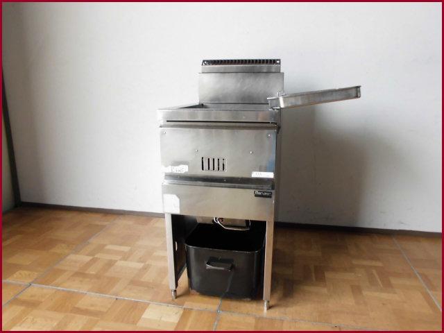 【中古】厨房 マルゼン フライヤー 18L 都市ガス MGF-18J W430 D600