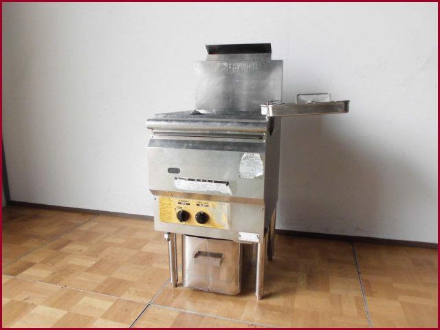【中古】厨房 コメットカトウ 業務用 都市ガス フライヤー CF2-GA18 18L W450 D600 H800 2010年製