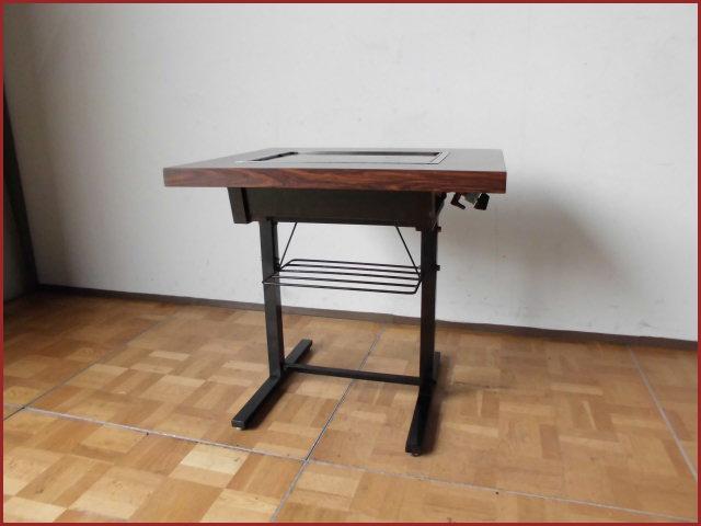 【中古】厨房 鉄板テーブル LPガス 圧電式 W750×D620×H700mm A プロパン お好み焼 焼そば 鉄板焼