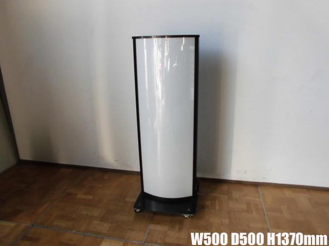 【中古】厨房 業務用福岡フレーム工業 照明看板キャスター付 自立 両面100V 60Hz専用 屋外用W500×D500×H1370mm