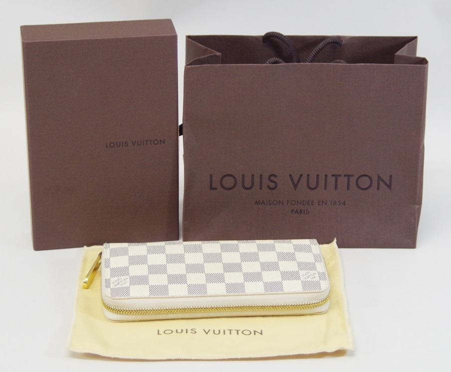 LOUIS VUITTONルイヴィトンN60019 ジッピー・ウォレット ラウンドファスナー ダミエアズール USED A 1200175897900006激安v8wN0ymnO