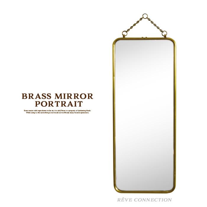 鏡 ミラー 壁掛けミラー BRASS ブラス ミラーバーティカル 真鍮 鏡 姿見 おしゃれ かがみ ドレッサー コンパクト おしゃれ鏡 化粧 アンティーク アンティーク調 レトロ ビンテージ 北欧 金色 無垢 ゴールドカラー ギフト